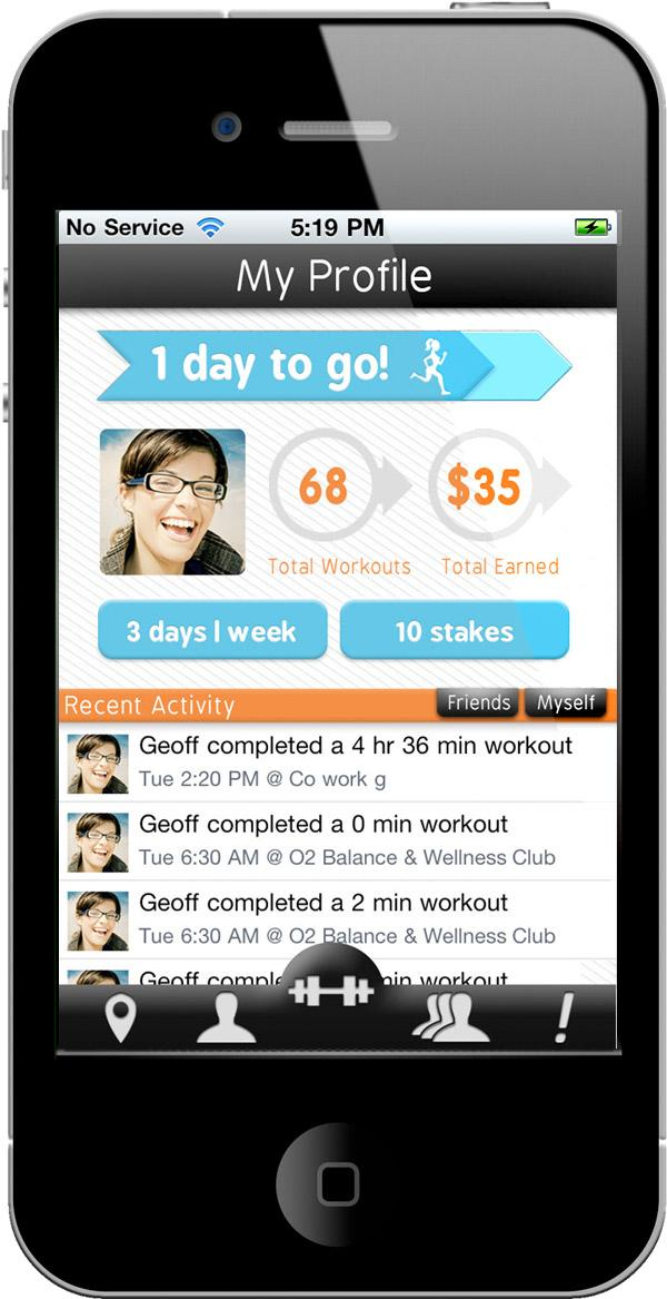 GymPact integrated with RunKeeper